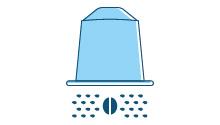 Capsule per sistemi erogatori di bevande (caffè, cioccolata e latte) che sono lasciate vuote dopo l'uso e capsule per sistemi erogatori di bevande progettate per essere svuotate manualmente dal consumatore
