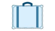 Film in plastica utilizzato per avvolgere le valigie in aeroporto