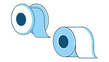 Rotoli, tubi e cilindri sui quali è avvolto materiale flessibile (come ad esempio pellicola, fogli di alluminio, carta), eccetto i rotoli, i tubi e i cilindri che sono parti di macchinari di produzione e non sono utilizzati per presentare un prodotto come un'unità di vendita