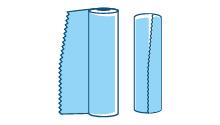 Rotoli di foglio di alluminio (astucciati e non) utilizzati per uso professionale (non domestico)