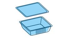 Vaschette/vassoi ad uso imballaggio (non domestico)