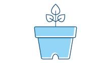 Vasi da fiori da usare solo per la vendita e il trasporto di piante e non destinati a restare con la pianta per tutta la sua durata di vita