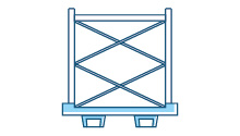 Scaffold frame containers